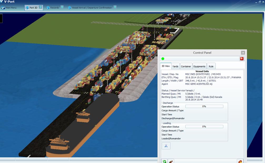 Vport 3D liman otomasyon sistemi